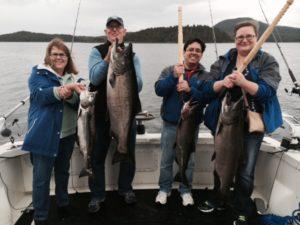 catch big salmon - alaska charter boat