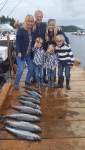 family fishing in ketchikan