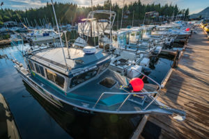 Salmon Fishing Tour Boat